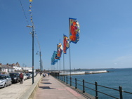 Flags on promenade